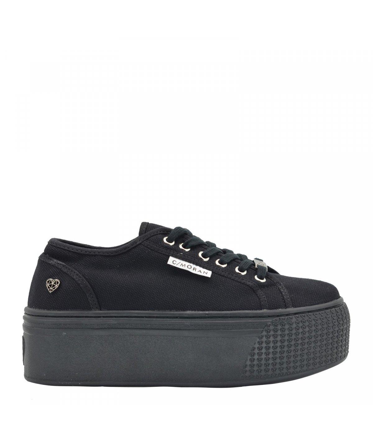 Zapatillas Mujer 236  PL. Black Lona